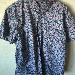 men arizona button down hawaiin tee